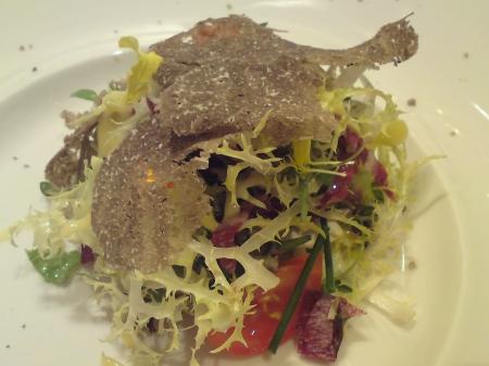 Summer Salad with Black Alba Truffles