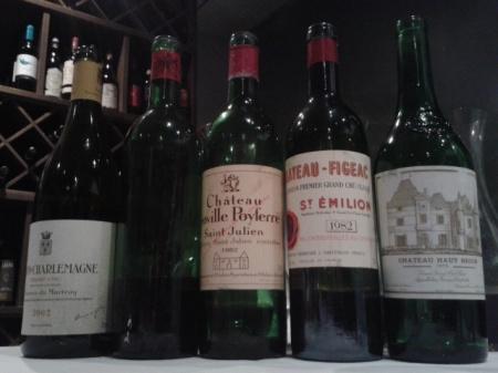 1982 Bordeaux & 1975 Haut Brion