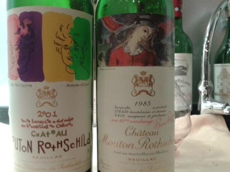 1985 & 2001 Mouton Rothschild