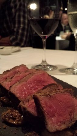 Glorious beef with 2004 Solaia behind